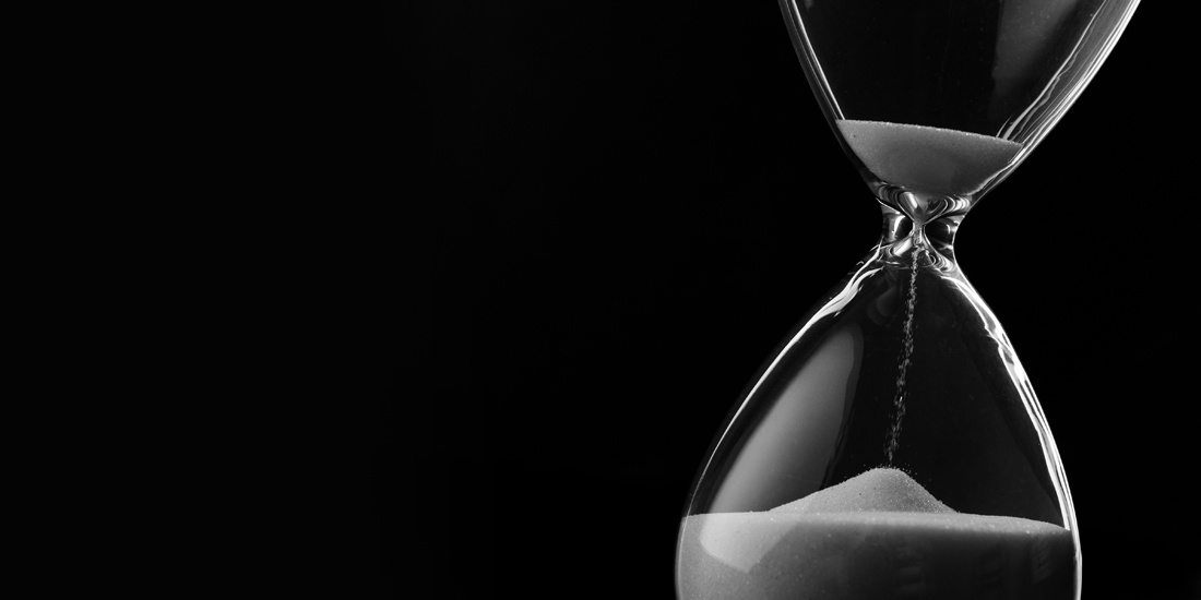 Artful photo of an hourglass